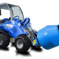 Multione-cement-mixer for mini loaders
