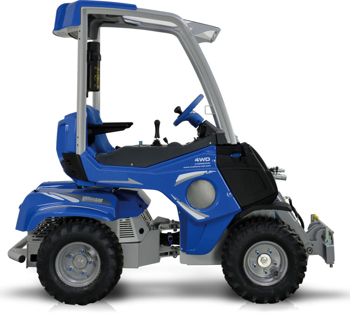 small mini articulated loader left side