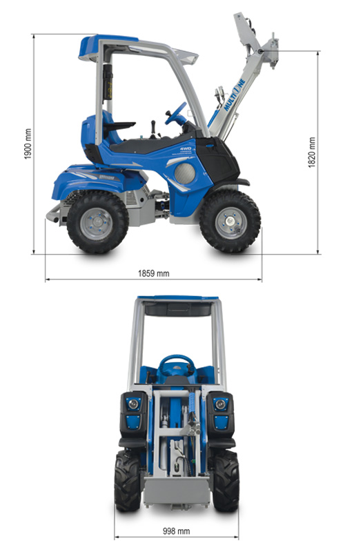 Multione 2.2 Mini loader Lift Height