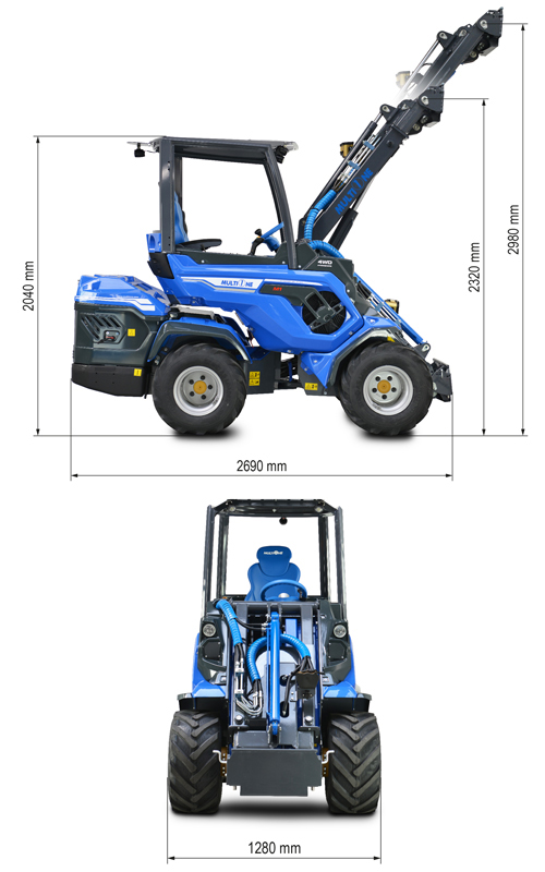 Multione 8.4 Mini Articulated Loader Lift Height