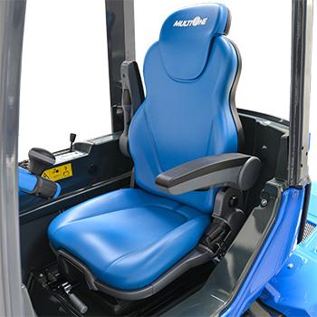 Ergonomic full adjustable suspension seat