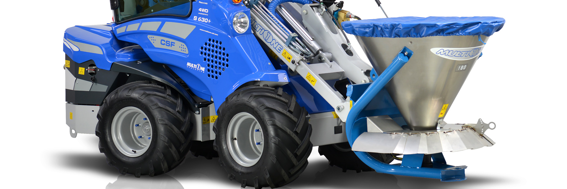 Multione-salt-and-sand-spreder for mini excavator
