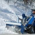 Multione-snow-blower for mini excavator