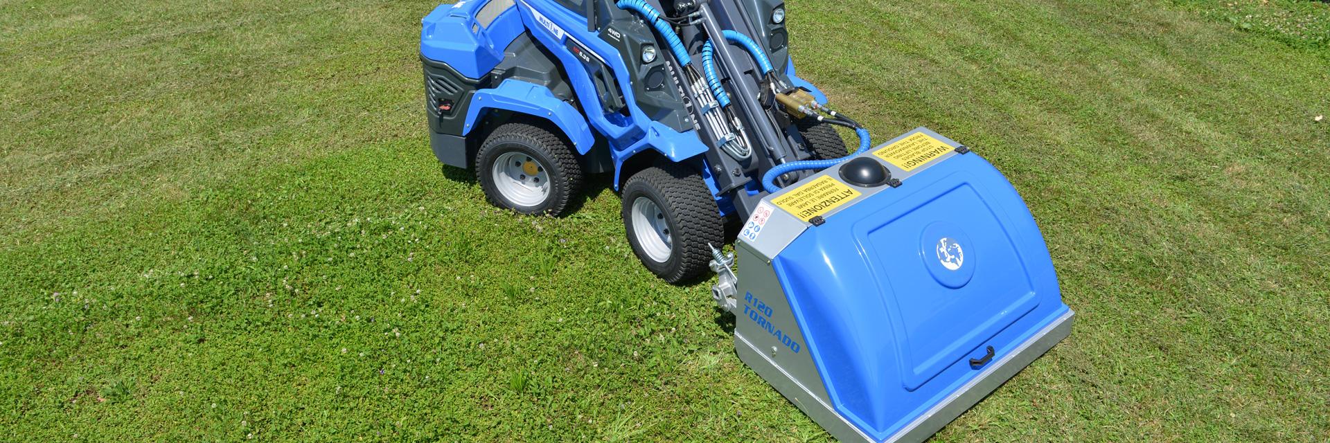 tornado lawn mower for mini loader