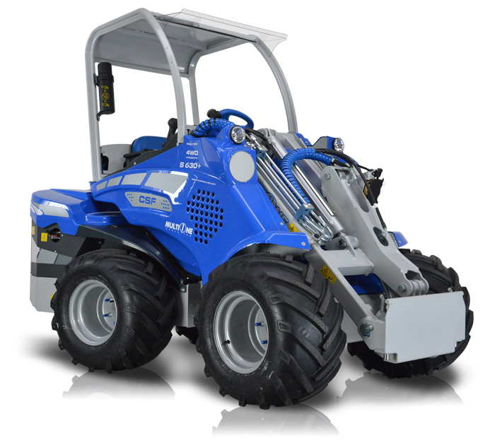 Telescopic Boom Mini Articulated Loader front side