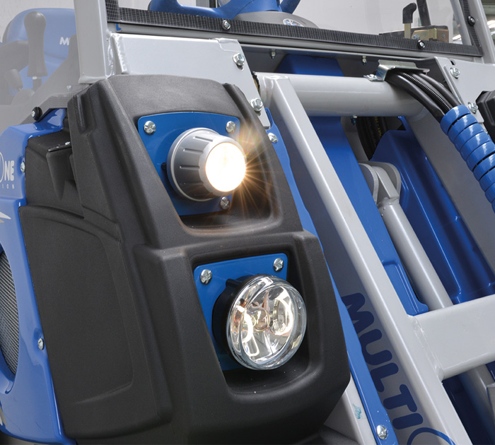 small mini articulated loader lights